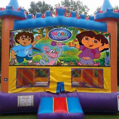 Dora & Diego Themed Moonwalk